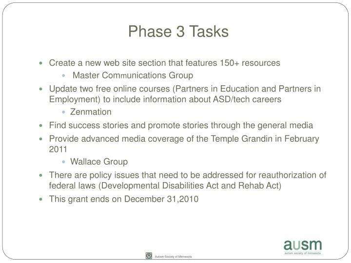 Phase 3 Tasks