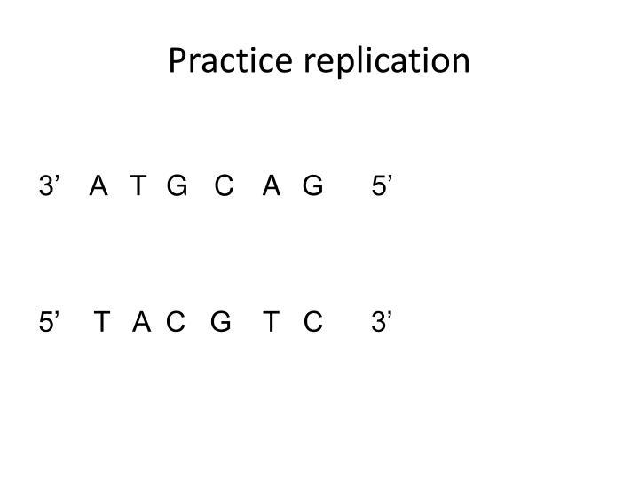 Practice replication
