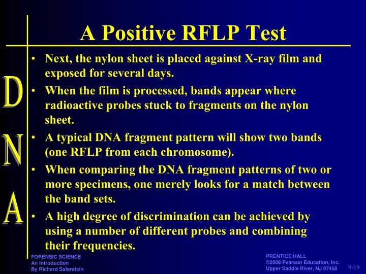 A Positive RFLP Test