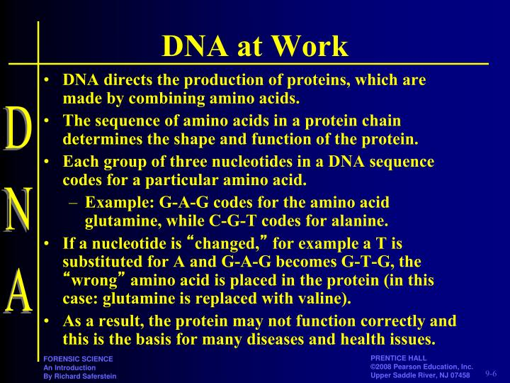 DNA at Work
