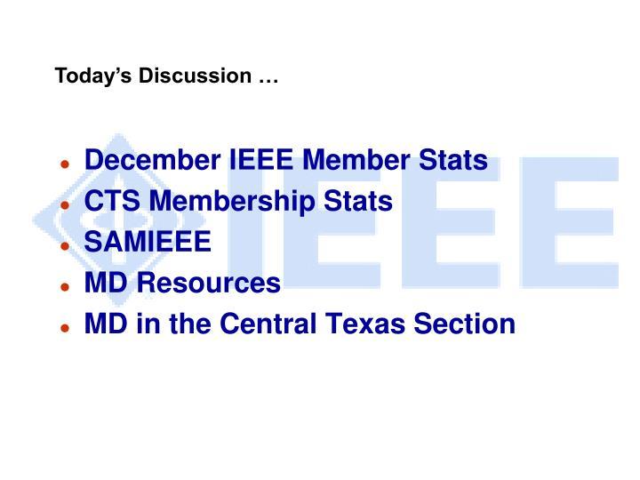 December IEEE Member Stats