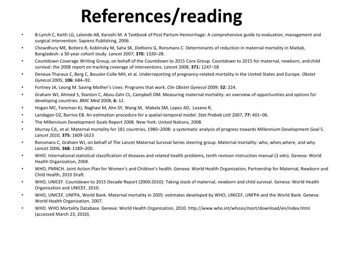 References/reading
