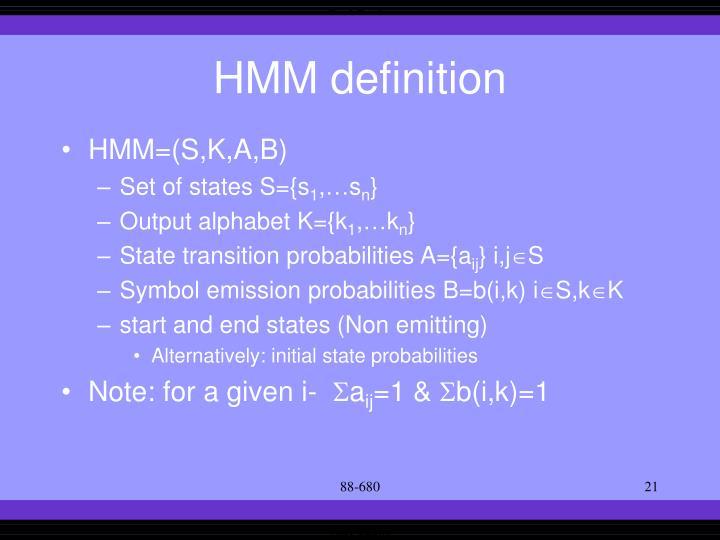 HMM definition
