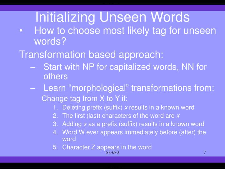 Initializing Unseen Words