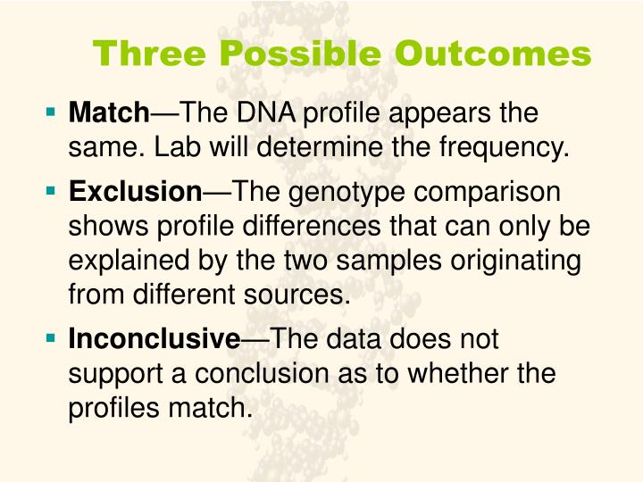 Three Possible Outcomes