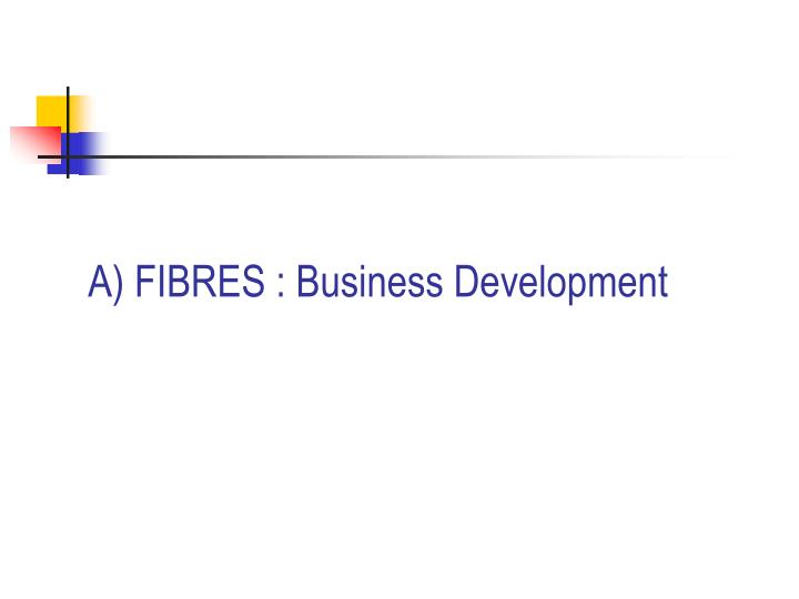 A) FIBRES : Business Development