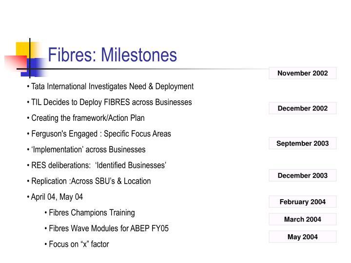 Fibres: Milestones