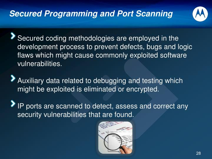 Secured Programming and Port Scanning