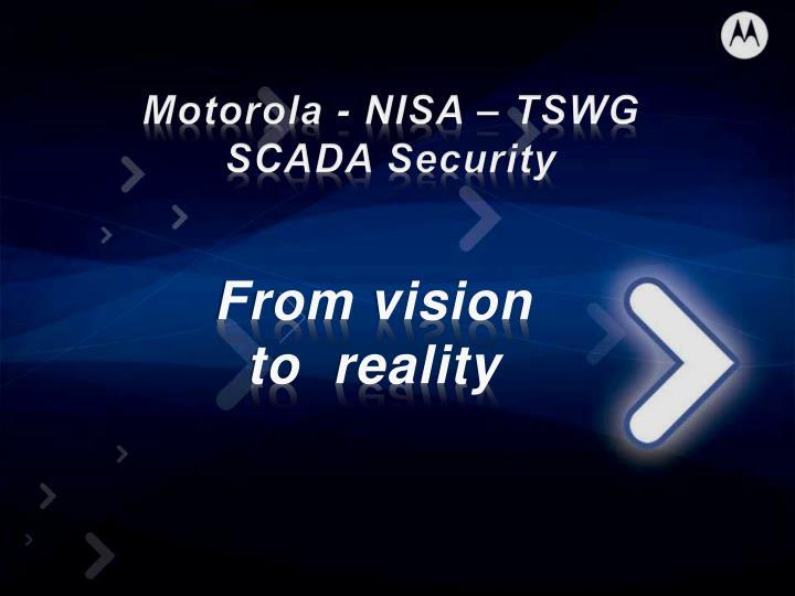 Motorola - NISA – TSWG