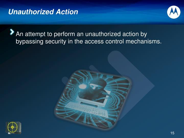 Unauthorized Action
