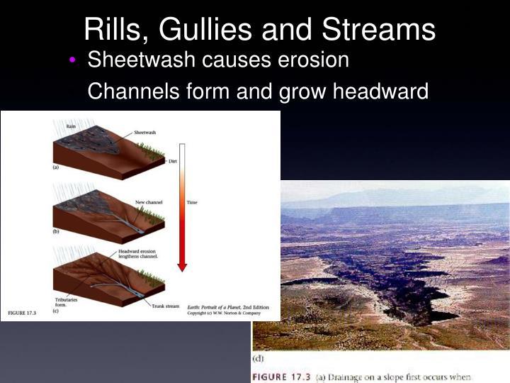 Rills, Gullies and Streams
