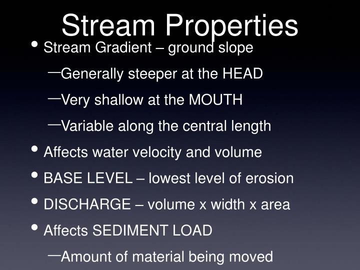Stream Properties