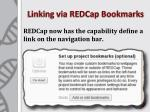 linking via redcap bookmarks