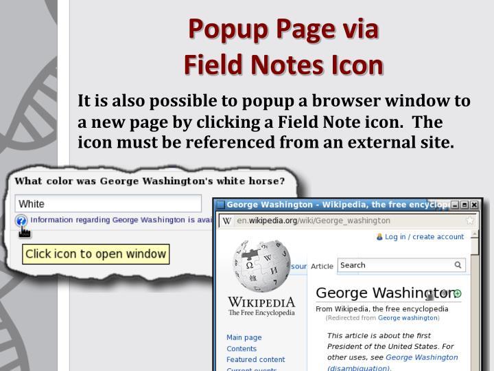 Popup Page via