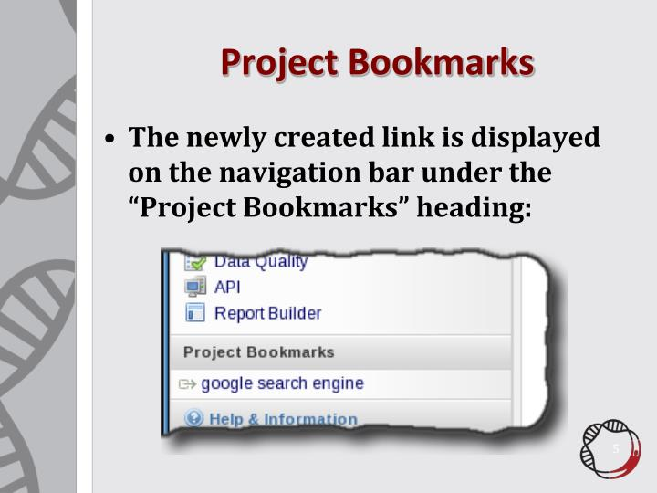 Project Bookmarks