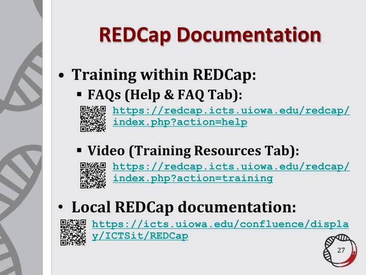 REDCap Documentation