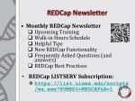 redcap newsletter