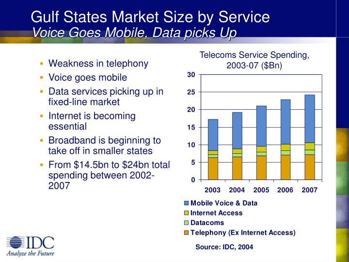 Gulf States Market Size by Service