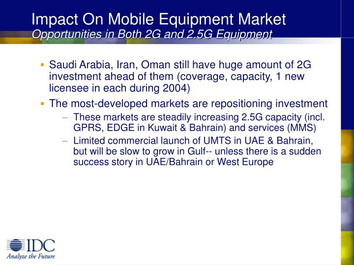 Impact On Mobile Equipment Market