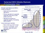 selected mea mobile markets a comparative view