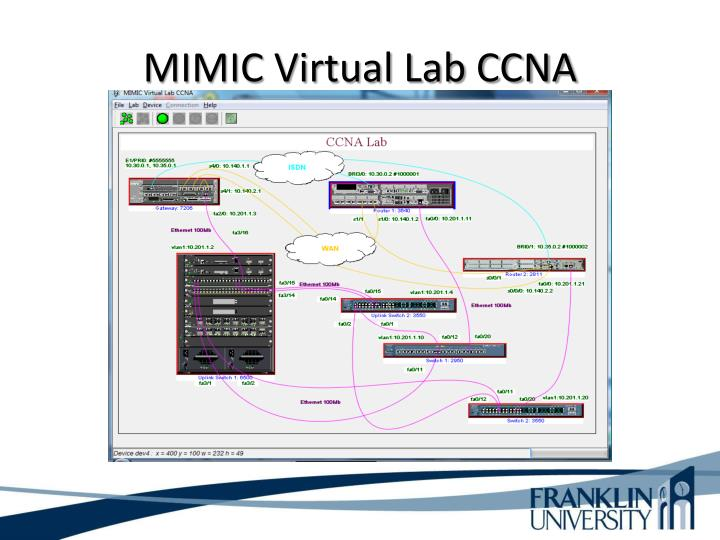 MIMIC Virtual Lab CCNA