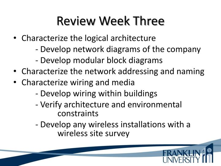 Review Week Three
