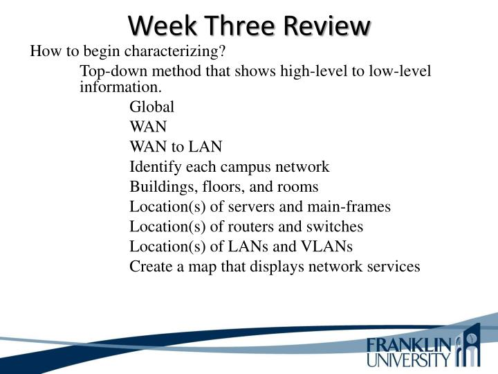 Week Three Review