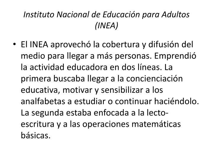 Instituto Nacional de Educación para Adultos (INEA)