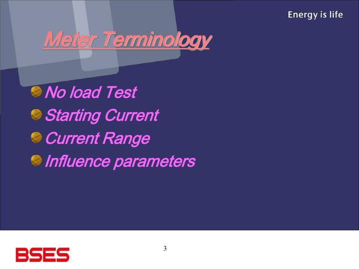 Meter Terminology