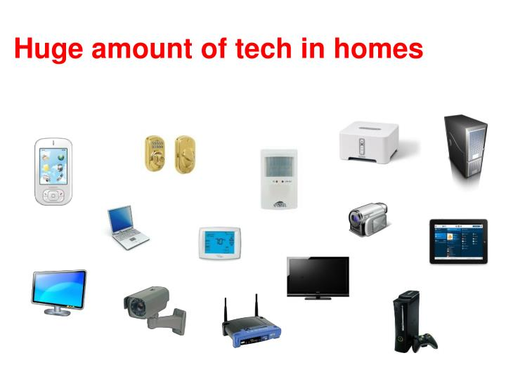 Huge amount of tech in homes