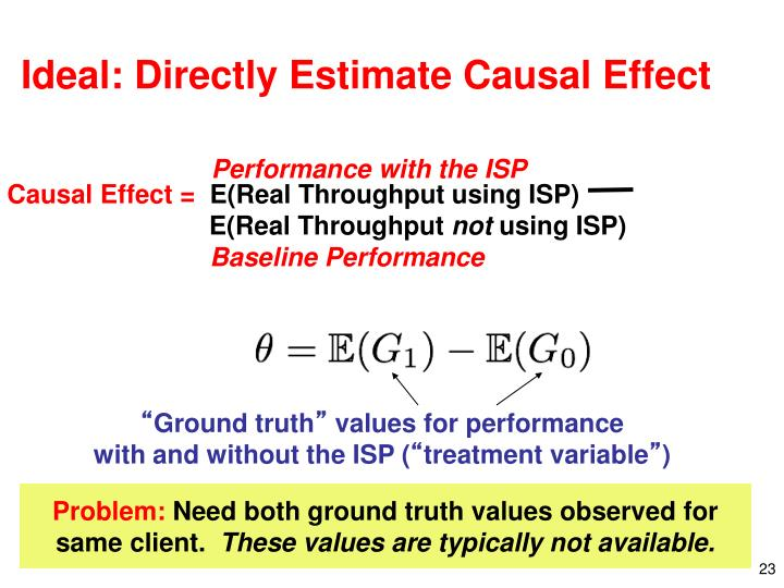 Ideal: Directly Estimate Causal Effect