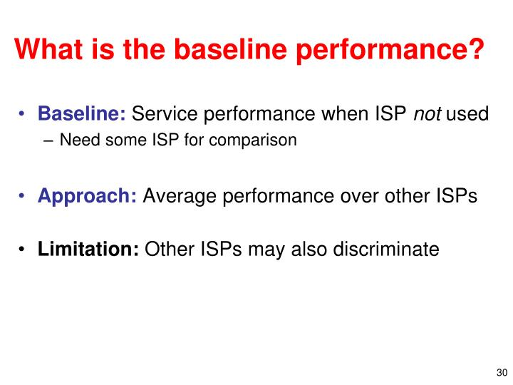 What is the baseline performance?
