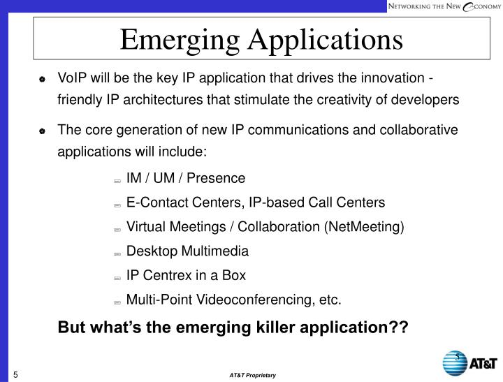 Emerging Applications