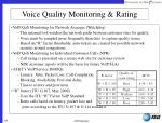 voice quality monitoring rating