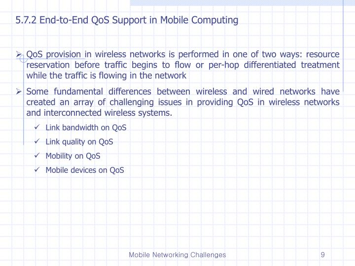 5.7.2 End-to-End QoS Support in Mobile Computing