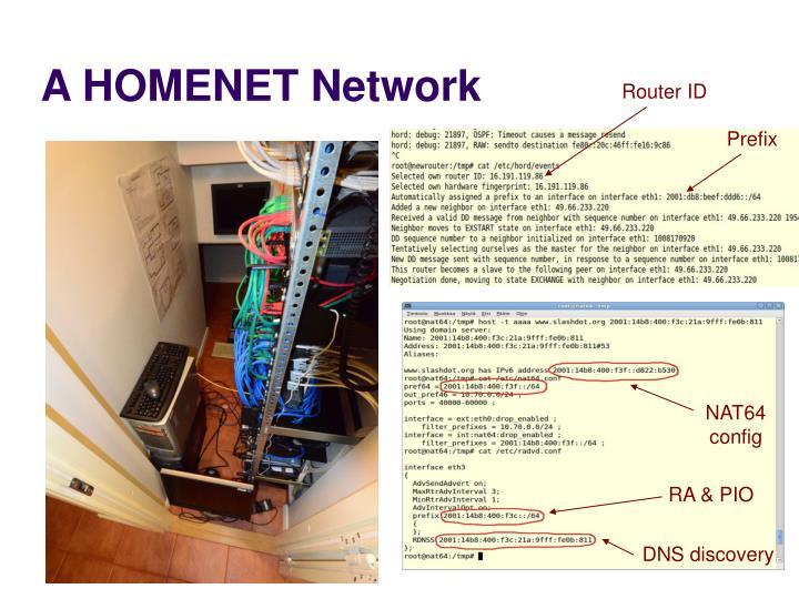 A HOMENET Network