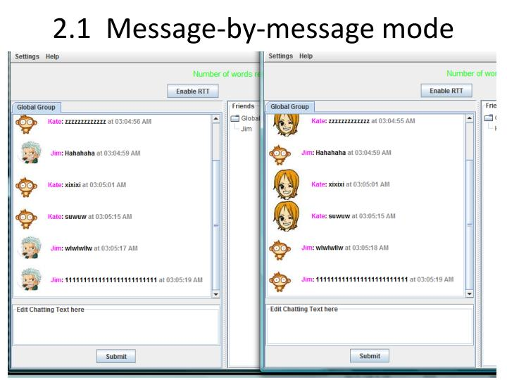 2.1  Message-by-message mode