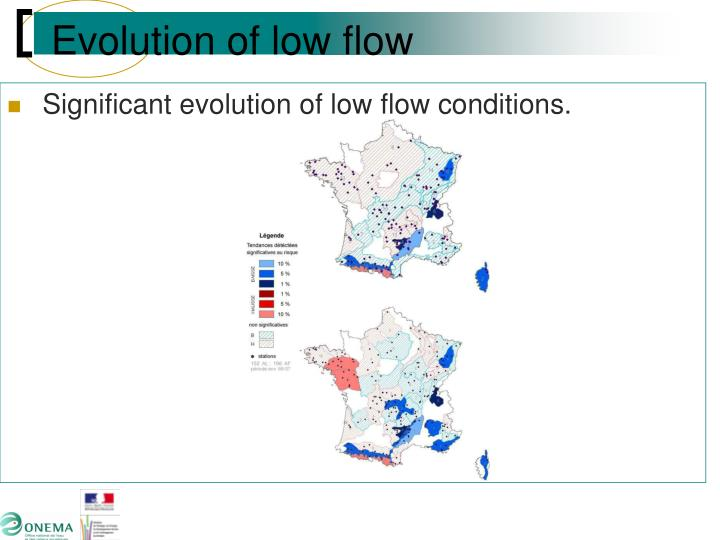 Evolution of low flow
