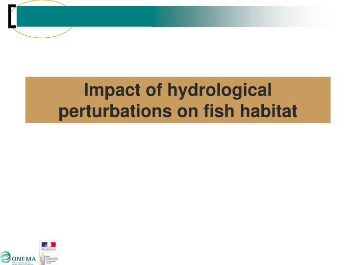 Impact of hydrological perturbations on fish habitat