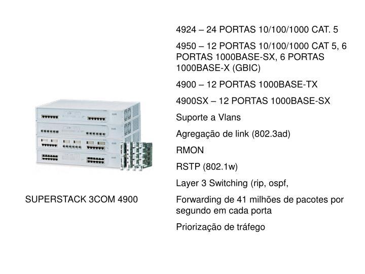 4924 – 24 PORTAS 10/100/1000 CAT. 5