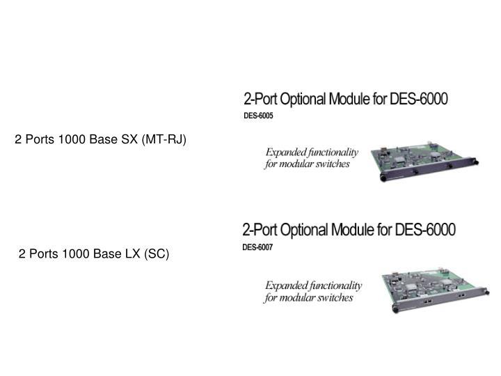 2 Ports 1000 Base SX (MT-RJ)