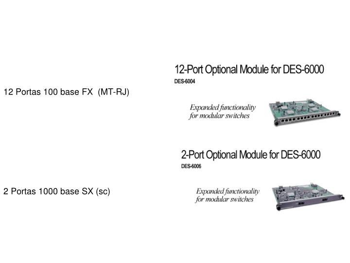 12 Portas 100 base FX  (MT-RJ)