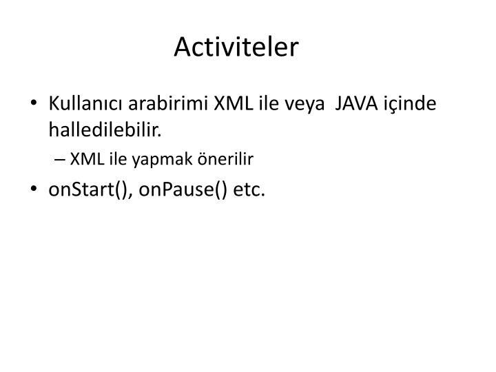 Activiteler
