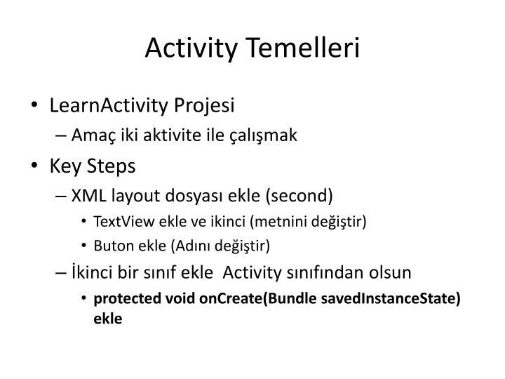 Activity Temelleri