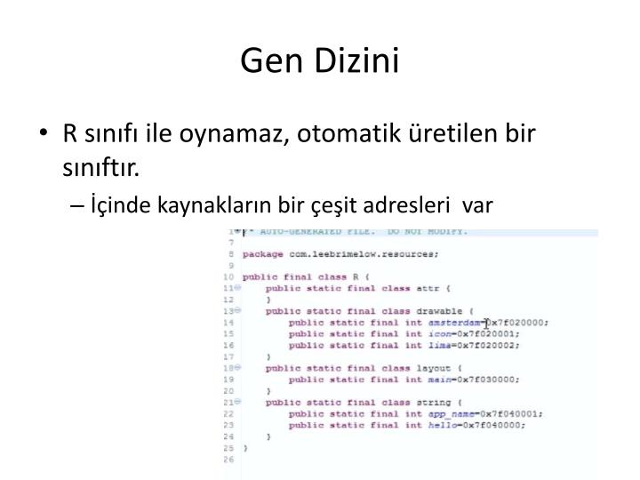 Gen Dizini