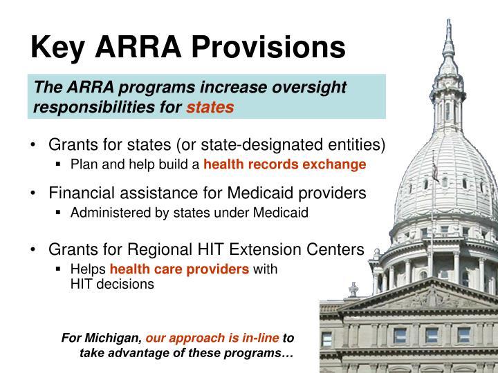 Key ARRA Provisions