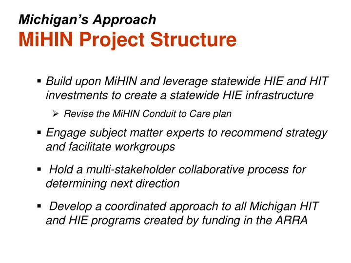 Michigan's Approach