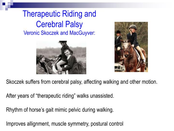 Therapeutic Riding and Cerebral Palsy
