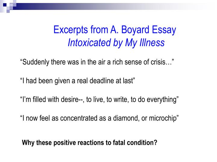 Excerpts from A. Boyard Essay