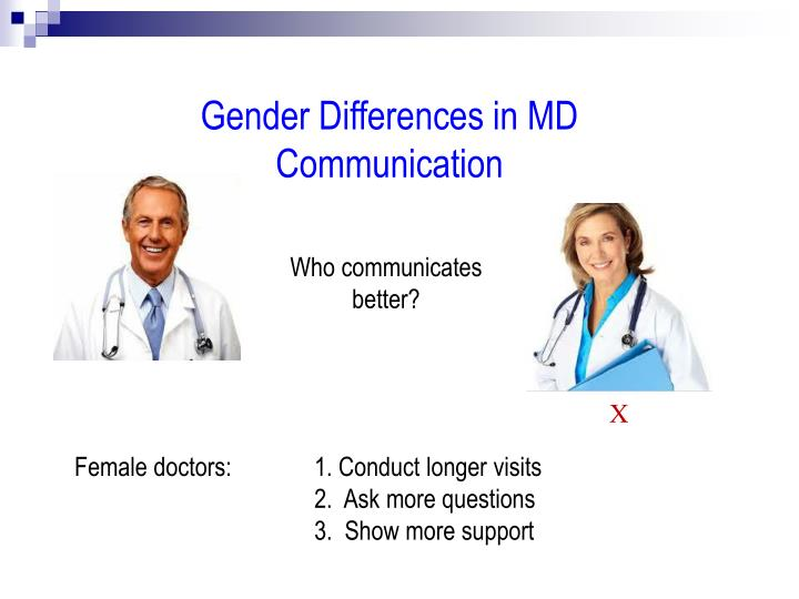 Gender Differences in MD Communication